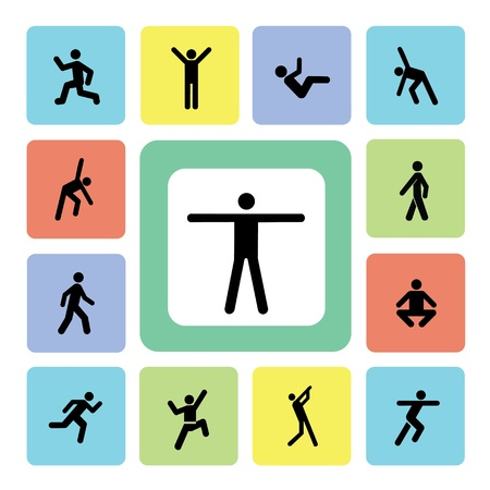 stretching exercise: icon action exercise for use