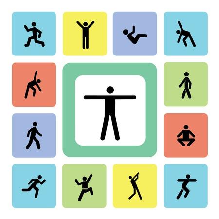pictogram actie oefening voor gebruik