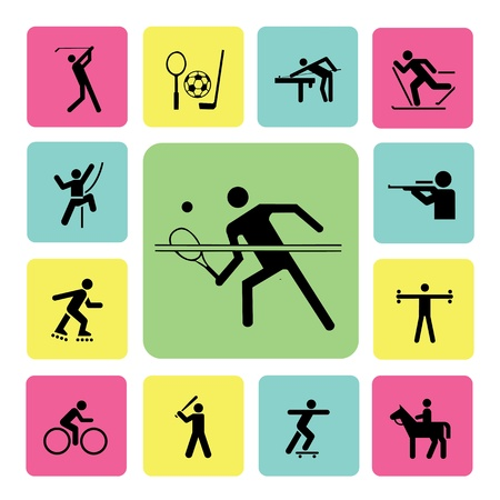 activity: sport icon set for use