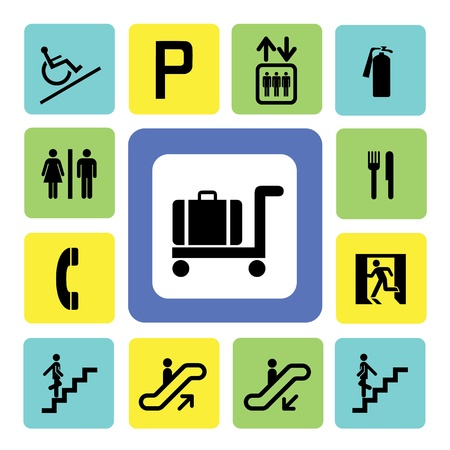 shopping mall icons set from Illustration