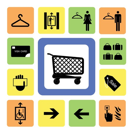 shopping mall icons set 2 from Illustration Vector