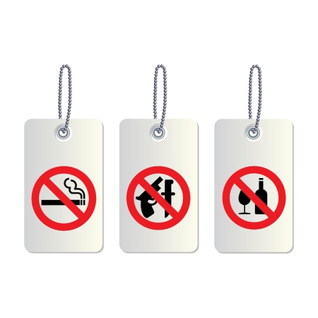 set of no allowed symbols Stock Vector - 19555478