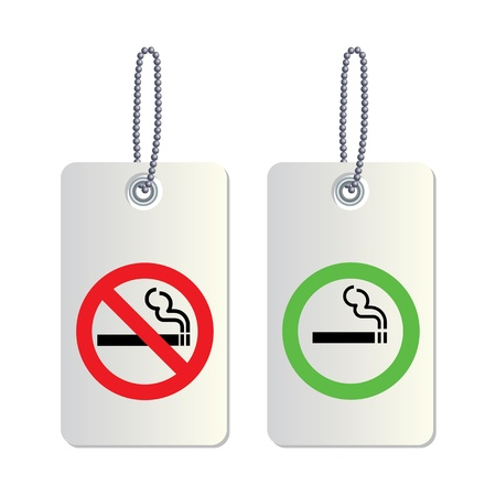 No smoking and Smoking area labels Stock Vector - 19555439