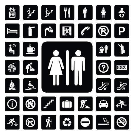 escalera: icono general para cada lugar Vectores