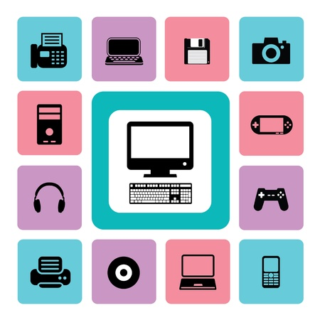 Icon IT set for use Stock Vector - 19555297