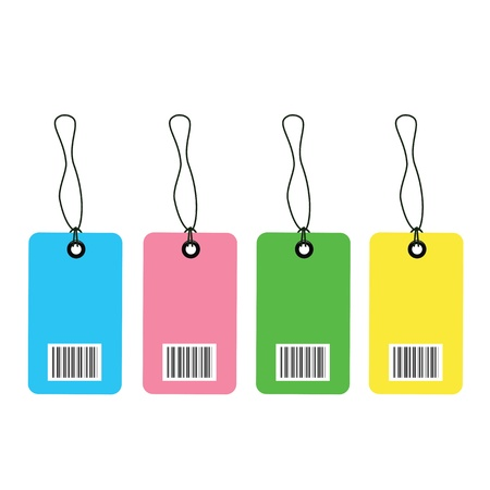 Tag barcodes on white background Stock Vector - 19555445
