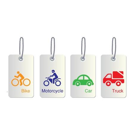 mini bike: traffic tag icon for use