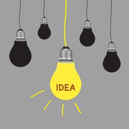 light bulb idea on blue background Stock Vector - 19555569
