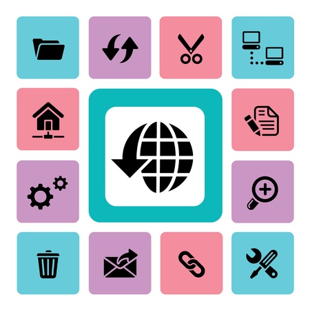 log out: FTP & Hosting Icons for use Illustration
