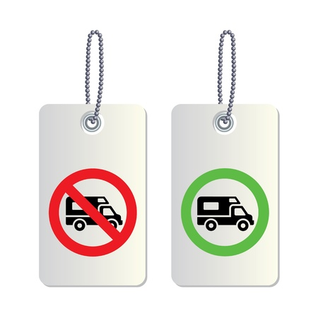 symbolization: Tag truck traffic sign for use