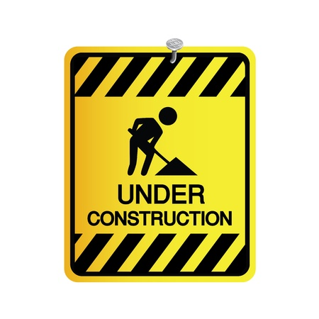 sign under construction on white background Stock Vector - 19555681