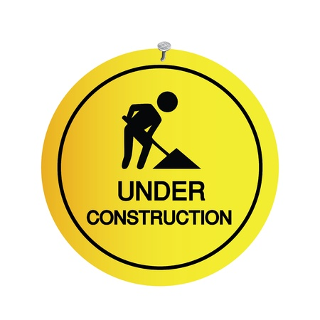 sign under construction on white background Stock Vector - 19555598