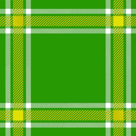 green plaid pattern for background Vector