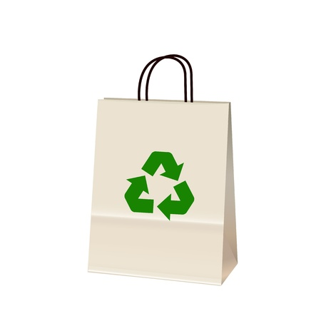 Recycle bag on white background Vector