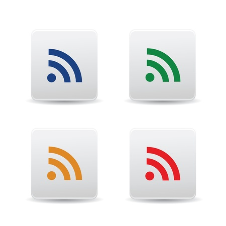 wifi sign: icon web set for use Illustration