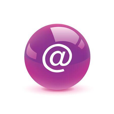 arobase: icon web set for use Illustration