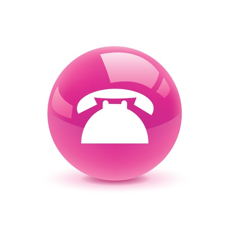 vintage telephone: icon web set for use Illustration