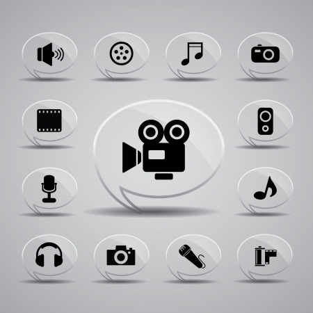 video camera: icon web set for use Illustration