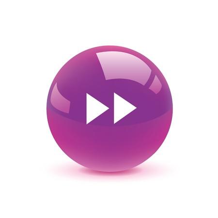 rewind icon: icon web set for use Illustration