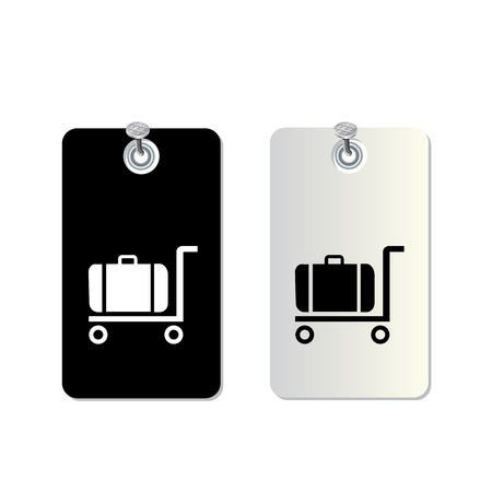 trolley case: tag symbol set for use