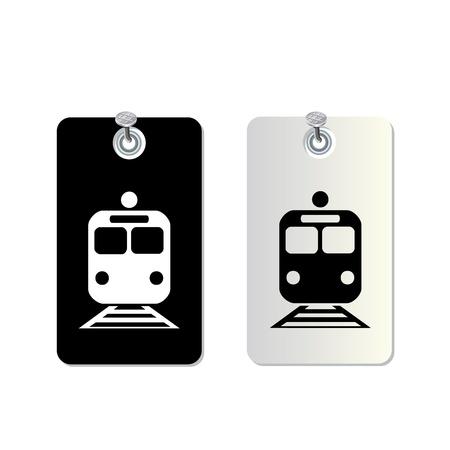eisenbahn: tag Zeichen gesetzt f?r den Einsatz Illustration