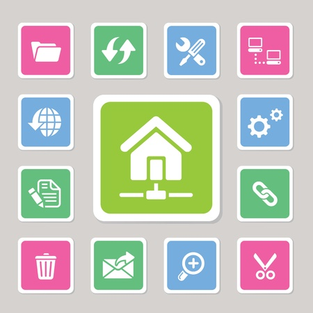 Web hosting icons for use Vector