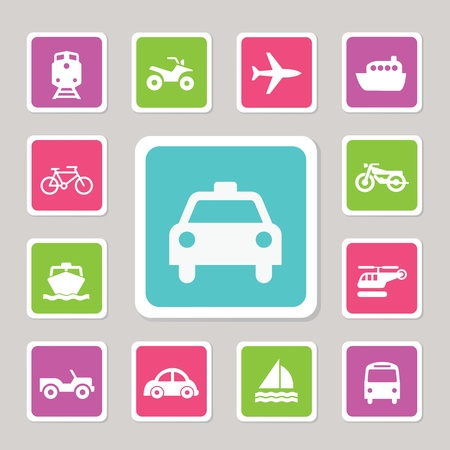 Icon Set Traffic on  Isolated white background Stock Vector - 20537284