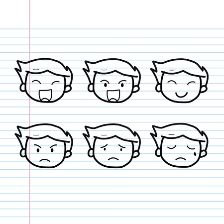cartoon sketch set for use Vector
