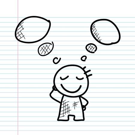cartoon sketch set for use Illustration
