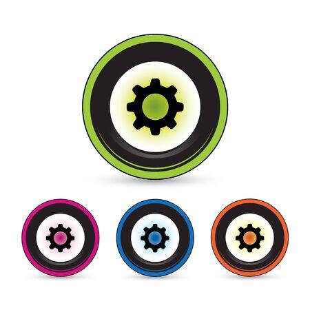 button icon set for use Stock Vector - 20779978