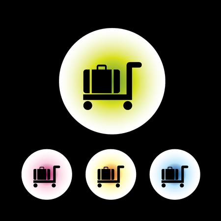 internet terminal: icon set in black background for use