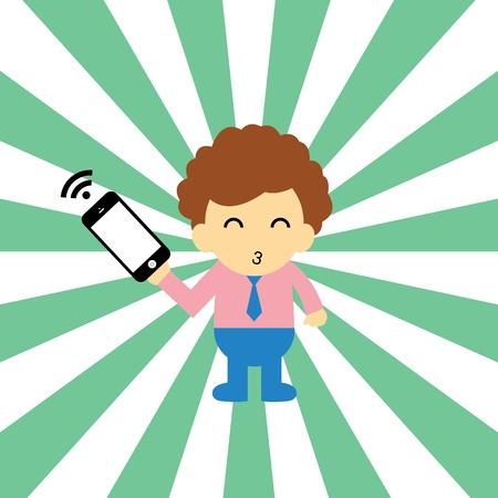 electronic organizer: technology style for use Illustration