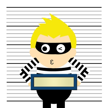 mugshot: cartoon style for use