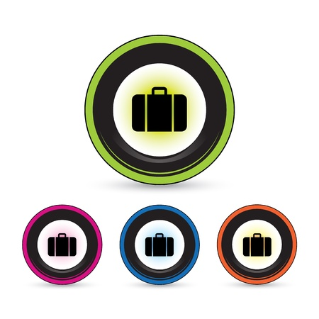 pc case: button icon set for use Illustration