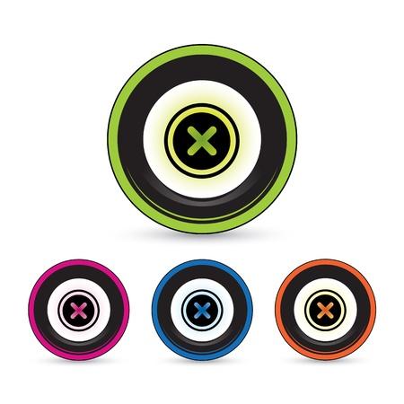 button icon set for use Stock Vector - 20864188