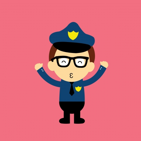police hat: cartoon style for use
