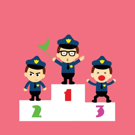 police cartoon style for use Vector