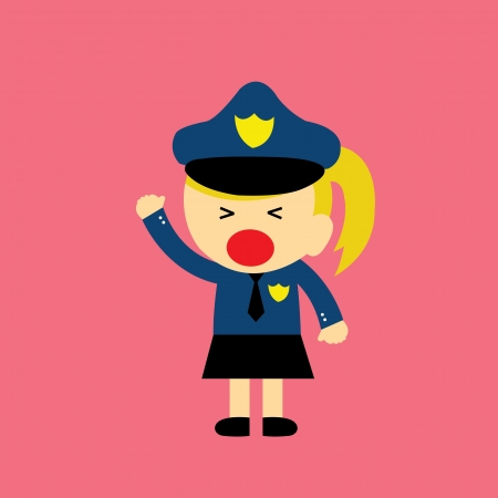 female police: cartoon style for use