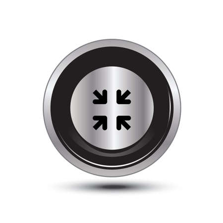 zoom in: single button aluminum for use Illustration