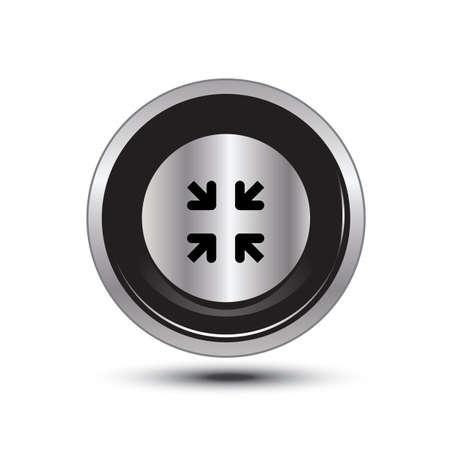 single button aluminum for use Stock Vector - 21137685