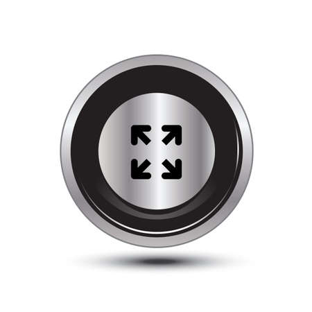single button aluminum for use Stock Vector - 21137686