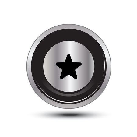 single button aluminum for use Stock Vector - 21137690