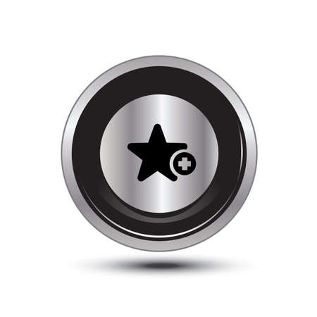 single button aluminum for use Stock Vector - 21137692
