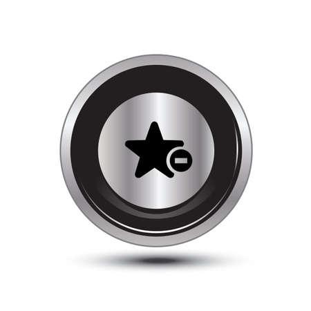 single button aluminum for use Stock Vector - 21137693