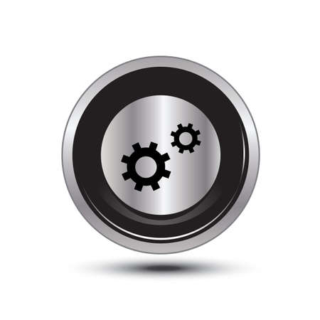 single button aluminum for use Vector