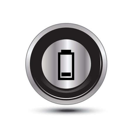 accuser: seul bouton aluminium � usage