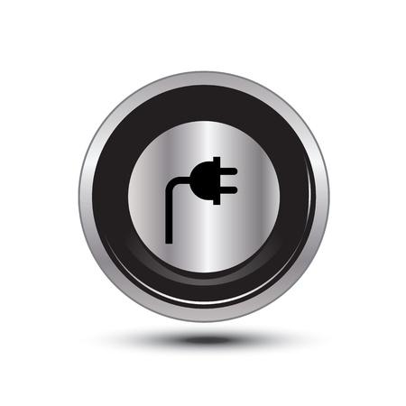 single button aluminum for use Illustration