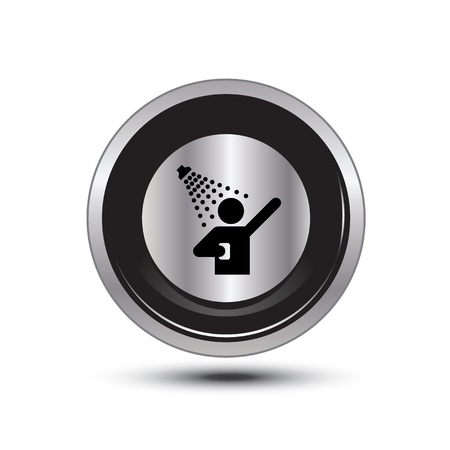neatness: single button aluminum for use Illustration