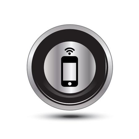 single button aluminum for use Stock Vector - 21137828