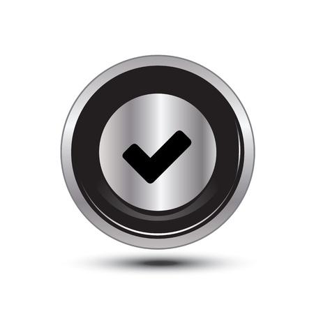 okey: single button aluminum for use Illustration